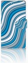 Sony Xperia XZ1 Boekhoesje Design Waves Blue