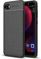HTC Desire 12 Soft Design TPU Case - Zwart
