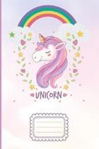Unicorn: Unicorn Wide Ruled Paper Notebook Journal