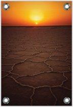 Tuinposter –Zonsondergang – 80x120cm Foto op Tuinposter (wanddecoratie voor buiten en binnen)