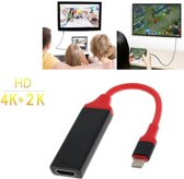 DrPhone - 4K x 2K 30hz (3840 x 2160 HD) TYPE C Premium HDMI Adapter USB C naar HDMI support 1080p - Alt DP Mode -0,20 cm kabel - Voor o.a. Nintendo Switch, Surface Book, Macbook Pro, Razer, XPS, Yoga, Spectre, Zenbook, S8, S9 Note 8, OnePlus 6, LG G7