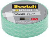 Scotch Expressions tape 15 mm x 10 m groen craquelǸ