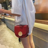 PU lederen één schoudertas dames handtas messengertas (rood)