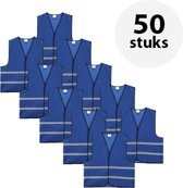 Veiligheidshesje - Veiligheidsvest - Volwassene - Blauw - 50 stuks