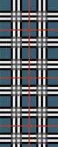 Amor Collections - Sjaal met schotse ruit - Wol - Denim/Blauw - 100x200 cm