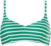 bikini top Horizontal pinstripe groen