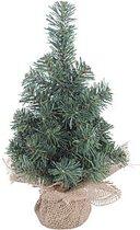 Mini kerstboompje met houten voet 30 cm