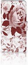 Motorola Moto E5 Plus Uniek Boekhoesje Watercolor Flowers