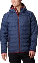 Columbia Delta Ridge Down Hooded Jacket Heren Outdoorjas - Dark Mountain - M