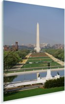 Uitkijkend naar de National Mall Plexiglas 60x90 cm - Foto print op Glas (Plexiglas wanddecoratie)