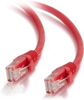 C2G - 350MHz Snagless Patch Kabel - Cat.5e / 0.50 meter / Rood