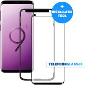 Glazen Screenprotector voor Samsung Galaxy S9 Plus (CASE FRIENDLY) (ZWART) | Tempered glass | Gehard glas (+ INSTALLATIE-TOOL)