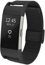 watchbands-shop.nl RVS bandje - Fitbit Charge 2 - Zwart