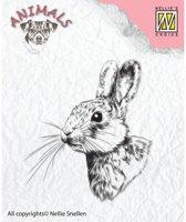 Ani015 Stempel Nellie Snellen konijn rabbit clearstamp