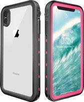 iPhone Xs MAX – Redpepper Military Grade & IP68 gecertificeerd hoesje, voor extreme sports – waterdicht (zwembad / strand vakantie), lichtgewicht en extreme sterke bescherming – DOT+ series – Roze/ Zwart