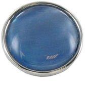Quiges - Dames Click Button Drukknoop 18mm Parel Blauw - EBCM073