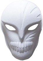 Papier mache masker spook