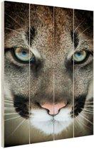 Close-up poema Hout 40x60 cm - Foto print op Hout (Wanddecoratie)