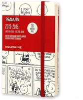 2016 Moleskine 18 month limited edition planner - Peanuts - weekly notebook - pocket - white - hard cover