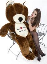 Grote teddebeer / knuffelbeer - Zachte pluche - I love you - Bruin