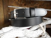 Leren riem 3,5 cm breed zwart maat 105