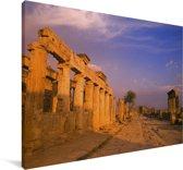 Oude ruïnes van Efeze in het Midden-Oosten Canvas 60x40 cm - Foto print op Canvas schilderij (Wanddecoratie woonkamer / slaapkamer)