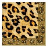 20x luipaard thema servetten 33 x 33 cm - papieren servetten