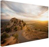 Woestijnslandschap Canvas 80x60 cm - Foto print op Canvas schilderij (Wanddecoratie woonkamer / slaapkamer)