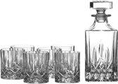 RCR Opera Whiskey Karaf - Incl. 6 Glazen - Kristalglas