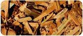 Houtsnippers Gekleurd Goud / Decochips - Bodembedekking Tuin 20-40mm / 35 ltr Zak