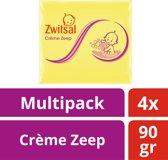 Zwitsal Crème Zeep - 4 x 90 g - Baby - Voordeelverpakking