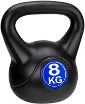 Avento Kettlebell - 8 kg - Zwart/Kobalt