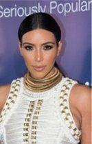 Kraag ketting Kim Kardashian goudkleur