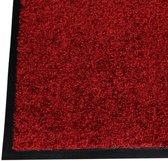 Schoonloopmat vloermat  90 x 150 cm rood