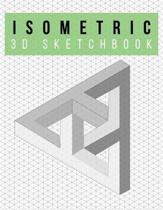 Isometric Graph Paper Notebook - 3D Sketchbook - Infinite Design