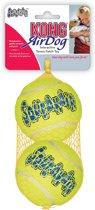 Kong Net A 2 Tennisbal+piep Maat L - Piepend speelgoed - 170mm x 90mm x 90mm - Geel