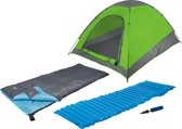 4472800 Camp Gear - Festival Pakket - 1-Persoons - Tent-Slaapzak-Luchtbed