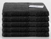 Nightlife Fresh Sneldrogende handdoeken 5-pak 70x140cm - Katoen - Zwart