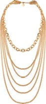 Multi chain layer necklace