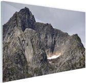 Bergtop Glas 180x120 cm - Foto print op Glas (Plexiglas wanddecoratie) XXL / Groot formaat!