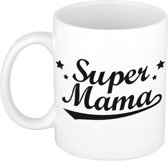 Super mama tekst cadeau mok / beker - Moederdag - 300 ml