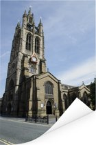 De kathedraal van Newcastle-upon-Tyne Poster 40x60 cm - Foto print op Poster (wanddecoratie woonkamer / slaapkamer) / Europese steden Poster