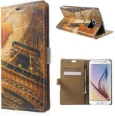 Eiffel Tower and Maple wallet case Samsung Galaxy S6 Edge