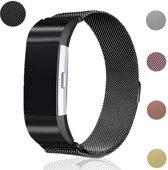 Eyzo FitBit Charge 2 Milanees Horloge Bandje – Large - Zwart