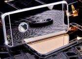 Apple Iphone 6 / 6S Siliconen spiegel hoesje (zilver)