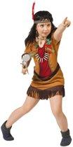 Indianen verkleed jurkje voor meisjes - carnavalskleding verkleedpak/kostuum 104 (4 jaar)