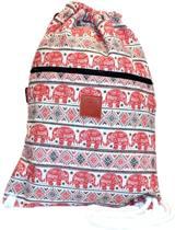 Rugtas Elephant Red | T-Bags | 100% Katoen | 14 Liter | Wit & Rood | Comfortabel