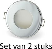 Badkamer inbouwspots 3W GU10 inbouwspot Zilver rond | Koel wit (Set van 2 stuks)