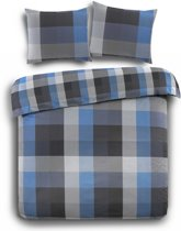 Day Dream Phil Dekbedovertrek - Flanel - Litsjumeaux - 240x200/220 cm - Blue