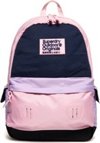 Superdry Montana Jersey Stripe Backpack Colourblock Pink